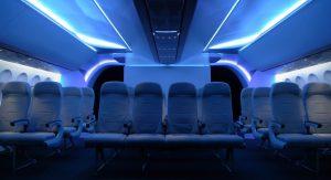 Auch das neue Economy-Layout von British Aerospace Systems mag den Passagieren keine ungebührlichen Geräusche zumuten. (#6)