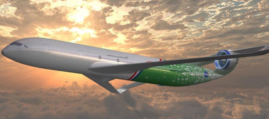 So wie diese Studie von Lockheed Martin und der NASA könnten zukünftige Airliner aussehen. Dieses Flugzeug hat außerdem noch aus Lärmschutzgründen ummantelte Propeller. (#3)