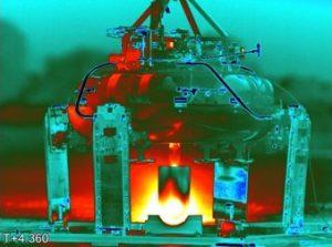 Der Mondland-Erkunder MX-1-Prototyp auf dem Triebwerksprüfstand. (#4)