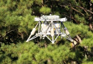 """""""Mighty Eagle"""" ist ein spezielles Testvehikel der NASA, mit dem die US-Raumfahrtbehörde die Flugsteuerung für landefähige Raumsonden erprobt. (#2)"""