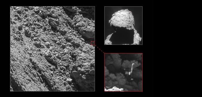 """Landemodul """"Philae"""" auf der Oberfläche des Kometen Tschurjumow-Gerassimenko"""