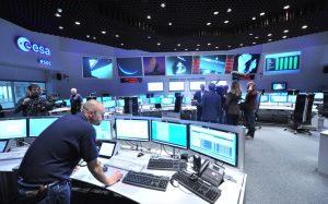 """Blick in den ESOC-Kontrollraum in Darmstadt. Von hier wurde die gesamte """"Rosetta""""-Mission gesteuert. (#11)"""
