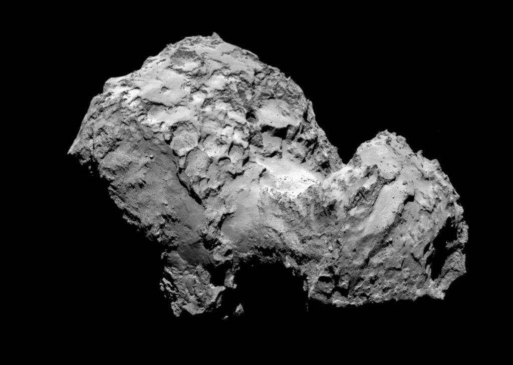 Irgendwo zwischen Amboss und Badeente – so wirkte der Komet 67P auf die Forscher. Hier aufgenommen am 3. August 2014. (#03)