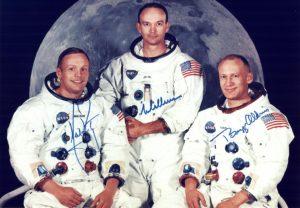 Die Besatzung von Apollo 11: (von links) Neil Armstrong, Michael Collins und Edwin 'Buzz' Aldrin. (#5)