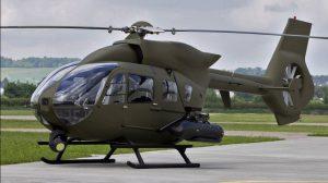 Die H145 von Airbus Helicopters fliegt als Unterstützungshubschrauber für die Spezialkräfte der Bundeswehr. Im Bild ein Prototyp.  (#1)