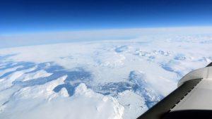 """Die """"Falcon"""" war in Höhen um 12 Kilometer unterwegs. Dort bot sich der Besatzung nicht nur ein spektakulärer Ausblick auf Grönland, sondern man kann in diesen Höhen auch die Erdkrümmung sehen. (#3)"""