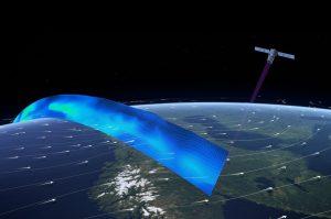 Mit Laser-Blitzen tastet der Satellit Windströmungen ab. (#13)