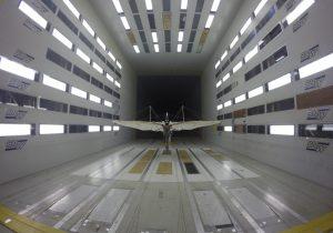 Der Nachbau bei Tests im Windkanal der DNW im niederländischen Marknese.