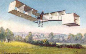 Die 14bis ist eine von Santos-Dumonts bekannteren Konstruktionen. Santos-Dumont baute mit ihr das erste Flugzeug in so genannter Enten-Konfiguration: Der Motor sitzt hinten und schiebt, die Flügel befinden sich ebenfalls am Heck, die Leitwerke dagegen vorne. In den Zeiten der Gebrüder Wright brachten die Flugpioniere oftmals die ungewöhnlichsten Entwürfe aufs Reißbrett - und manchmal auch in die Lüfte.(#5)
