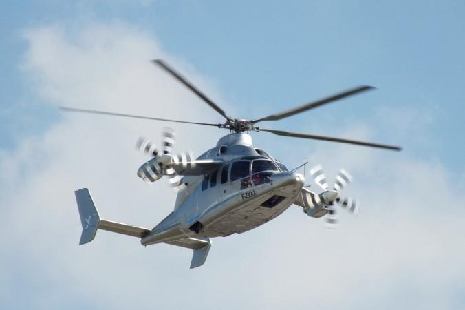 """Eurocopter X3, der Vorläufer von """"Racer"""", war 2012 auf der Internationalen Luftfahrtausstellung ILA in Berlin zu sehen."""