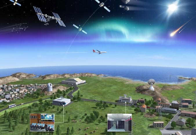 So stellt sich die europäische Raumfahrtagentur ESA ein Netz aus Bodenstationen, Flugzeugen und Satelliten zur Überwachung von Weltraumschrott vor. (#2)