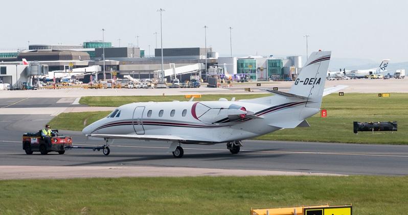 Die Cessna Citation XLS ist eines der modernsten Modelle der Cessna-Familie. Sie kann bis zu 12 Personen in über eine transkontinentale Distanz transportieren. (#05)