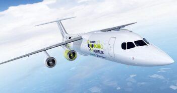 """Der E Fan X-Versuchsträger ist eine umgerüstete BAe 146 """"Jumbolino"""