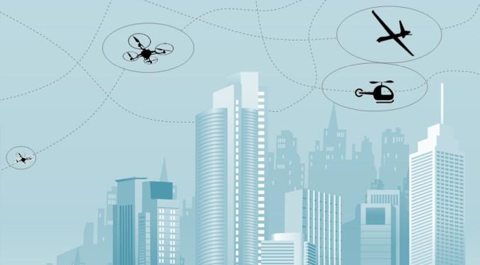 Zukünftig sollen unbemannte und bemannte Fluggeräte nebeneinander den urbanen Luftraum nutzen. Das DLR hat dazu Lösungen in einem wegweisenden Konzept vorgelegt. (#1)