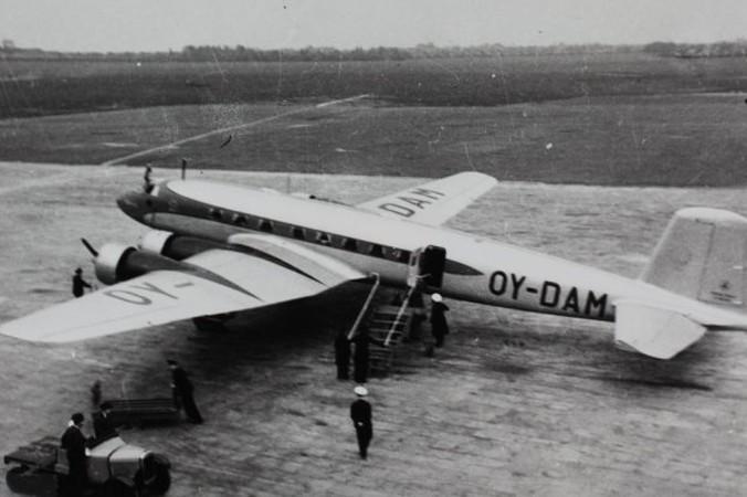 Eine der beiden Focke-Wulf 200A der dänischen Fluggesellschaft Det Danske Luftfartselskab DDL. (#1)