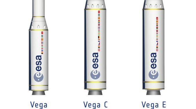 Unterschiedliche Konfigurationen der neuen Vega-Trägerrakete. (#2)