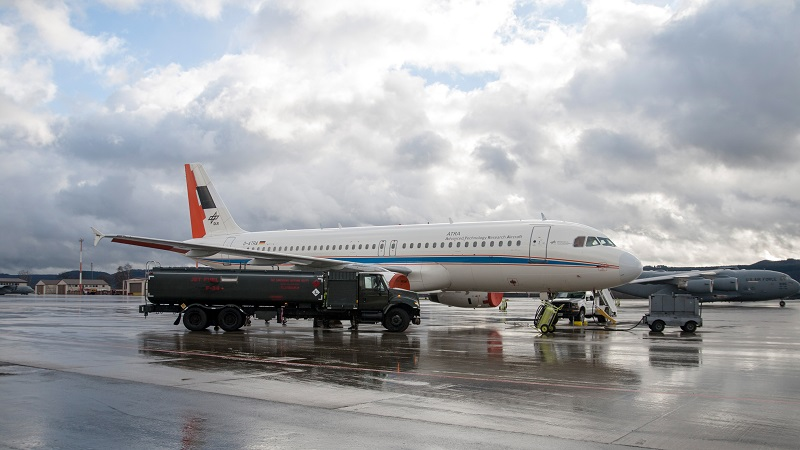 """Der Airbus A320 """"ATRA"""" des DLR auf dem Vorfeld in Ramstein. (#02)"""