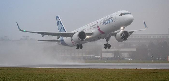 Am 31. Januar 2018 startete der Airbus A321LR in Hamburg-Finkenwerder zum Erstflug.