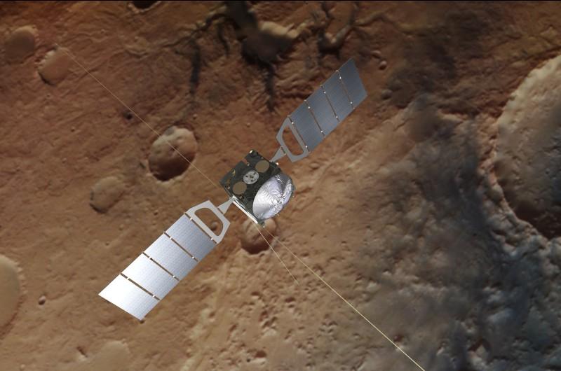 """Grafische Darstellung der """"Mars Express""""-Sonde. Sie umkreist seit rund 15 Jahren den Mars. (#1)"""