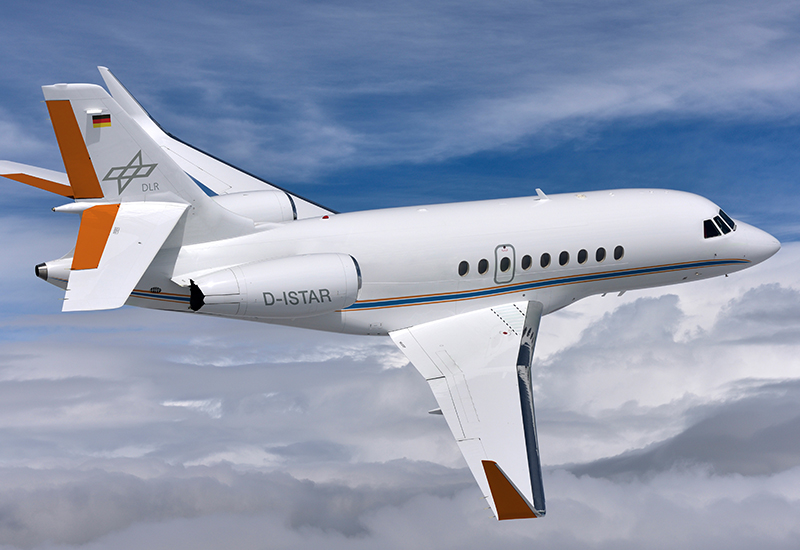"""Illustration des """"iSTAR""""-Flugzeugs, das Dassault an das DLR liefern wird. Dazu rüstet Dassault ein Geschäftsreiseflugzeug vom Typ Dassault Falcon 2000XL um. (#3)"""