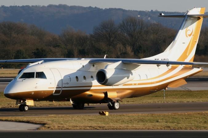 Do 328Jet der Fluggesellschaft Icejet wurde am 7. März 2010 auf dem Manchester Ringway International Airport fotografiert. (#2)