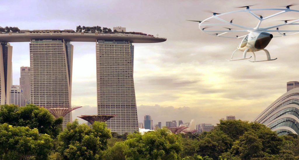 E-volo bietet seinen Volocopter als Flugtaxi der zivilen Luftfahrtbehörde  von Singapur an. (#2)